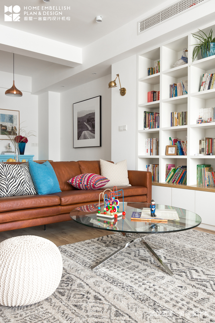 精美96平北欧四居客厅设计图