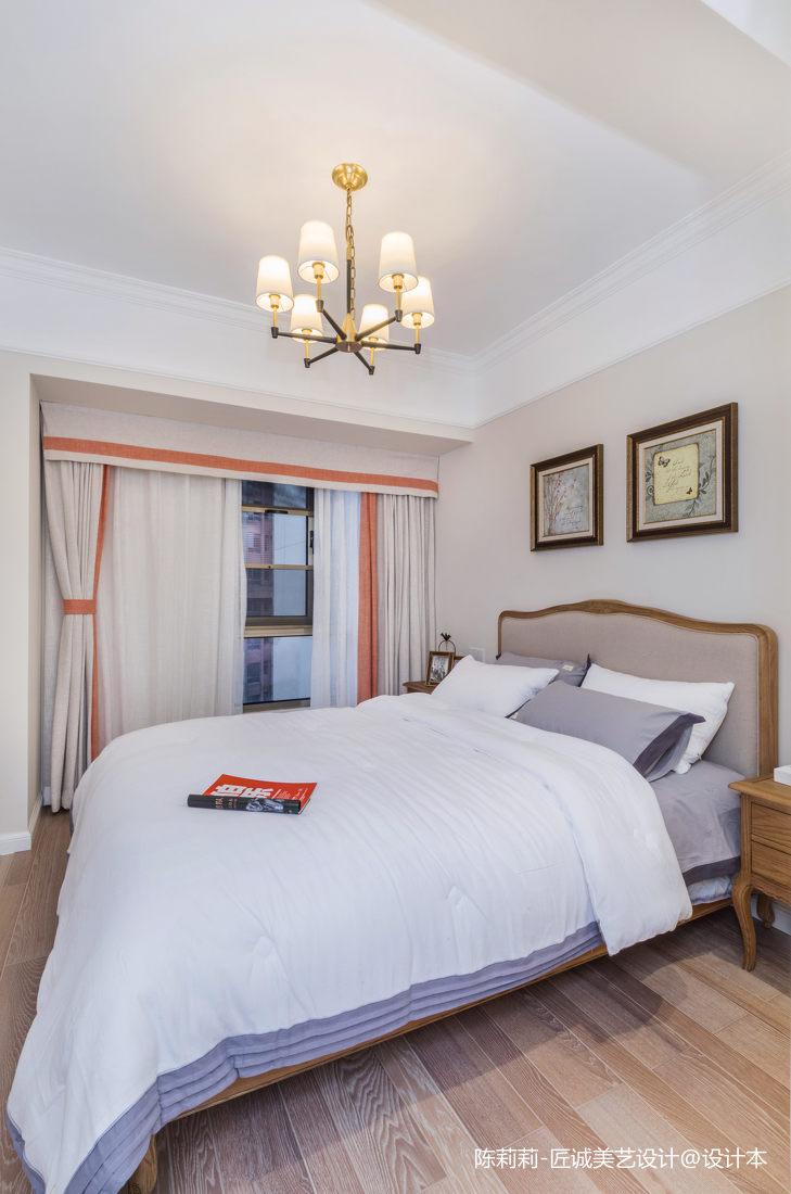 优雅79平美式三居卧室装修图片