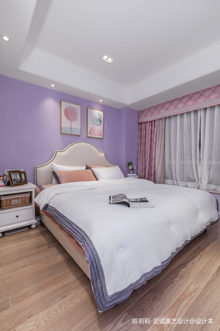 温馨125平美式三居卧室实景图片