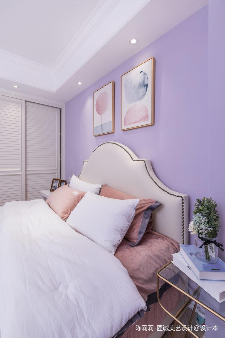 201976平美式三居卧室装饰图片