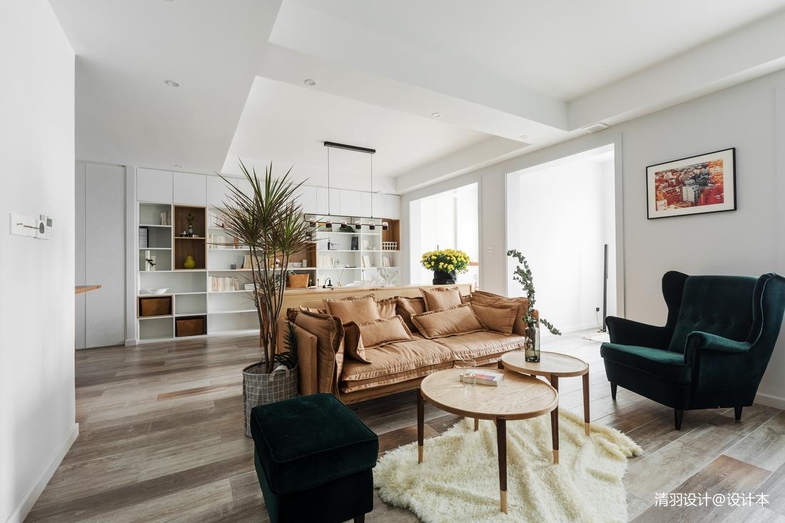 温馨79平简约二居客厅设计效果图