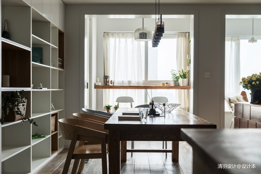 优美63平简约二居餐厅设计图
