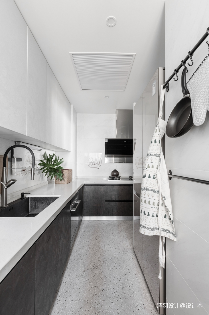 明亮69平简约二居厨房设计案例