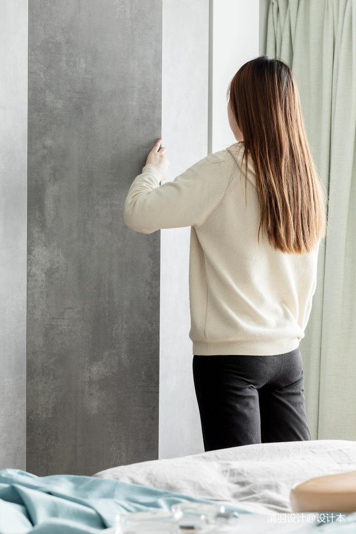 典雅62平简约二居卧室装修设计图