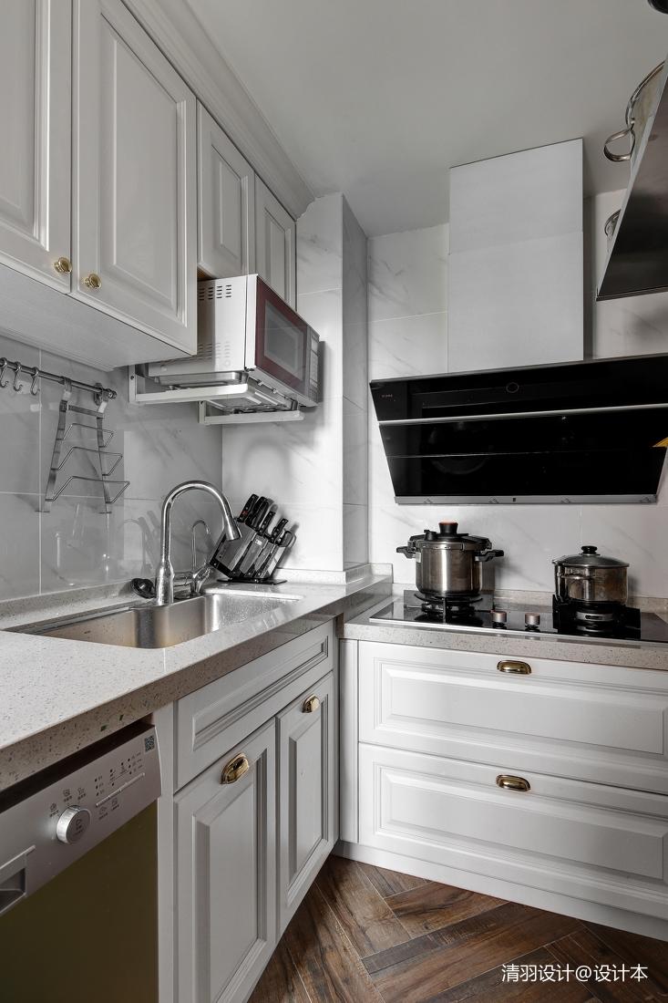 悠雅87平简约三居厨房效果图片大全