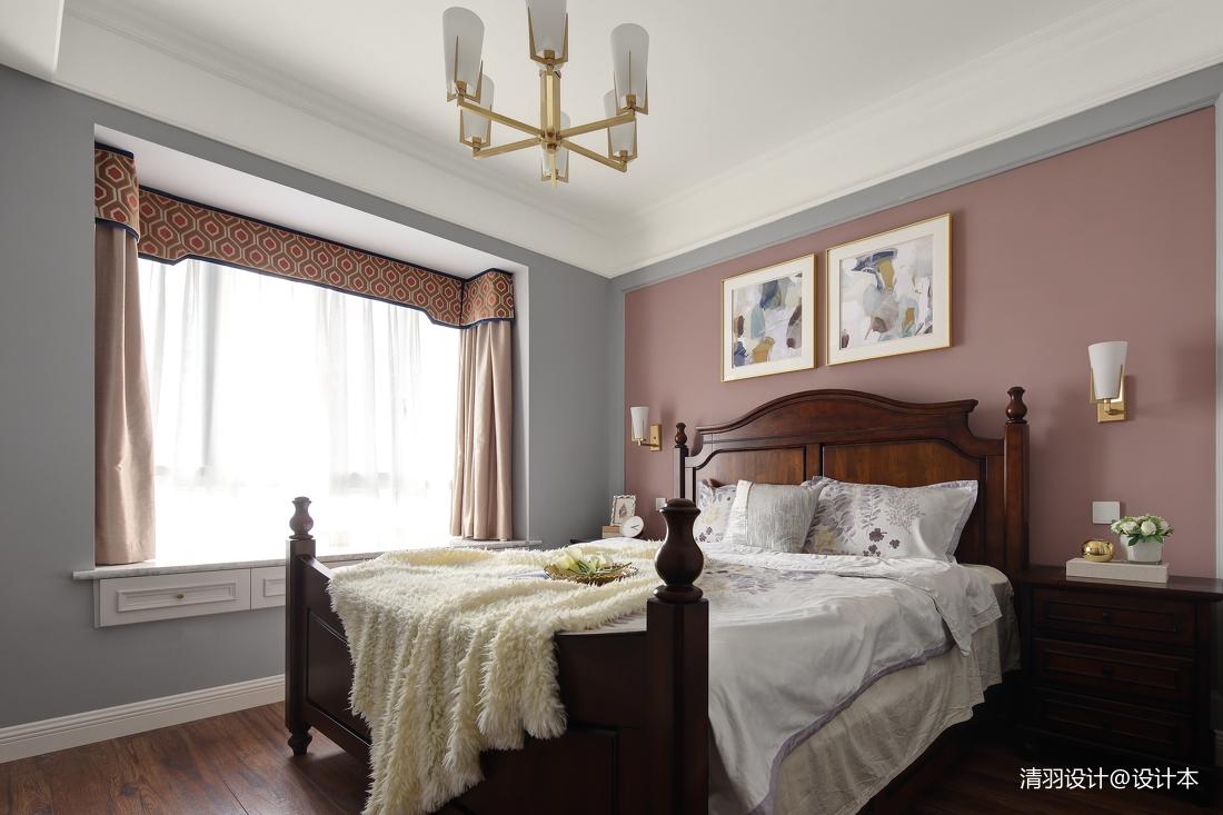 浪漫90平简约三居卧室案例图