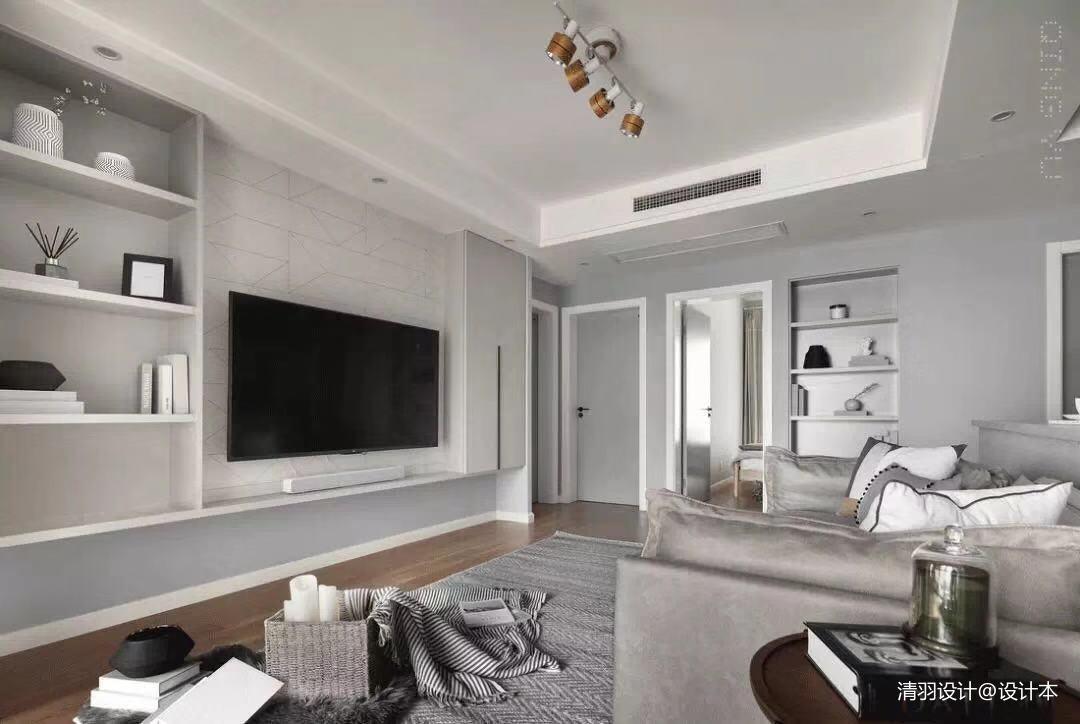 优美124平简约三居客厅设计美图