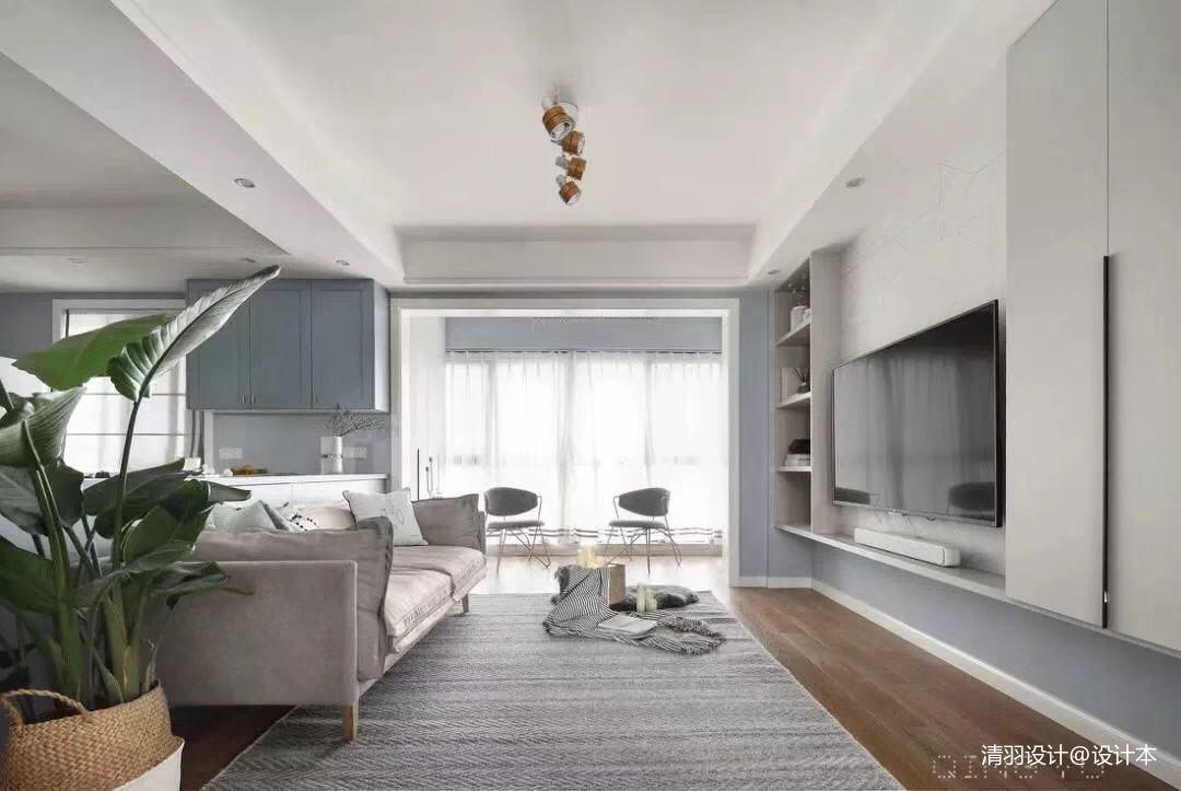 简洁113平简约三居客厅设计案例