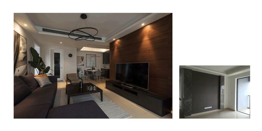 温馨72平现代三居客厅装饰图片