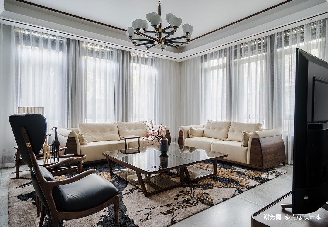 2019910平中式别墅客厅实拍图