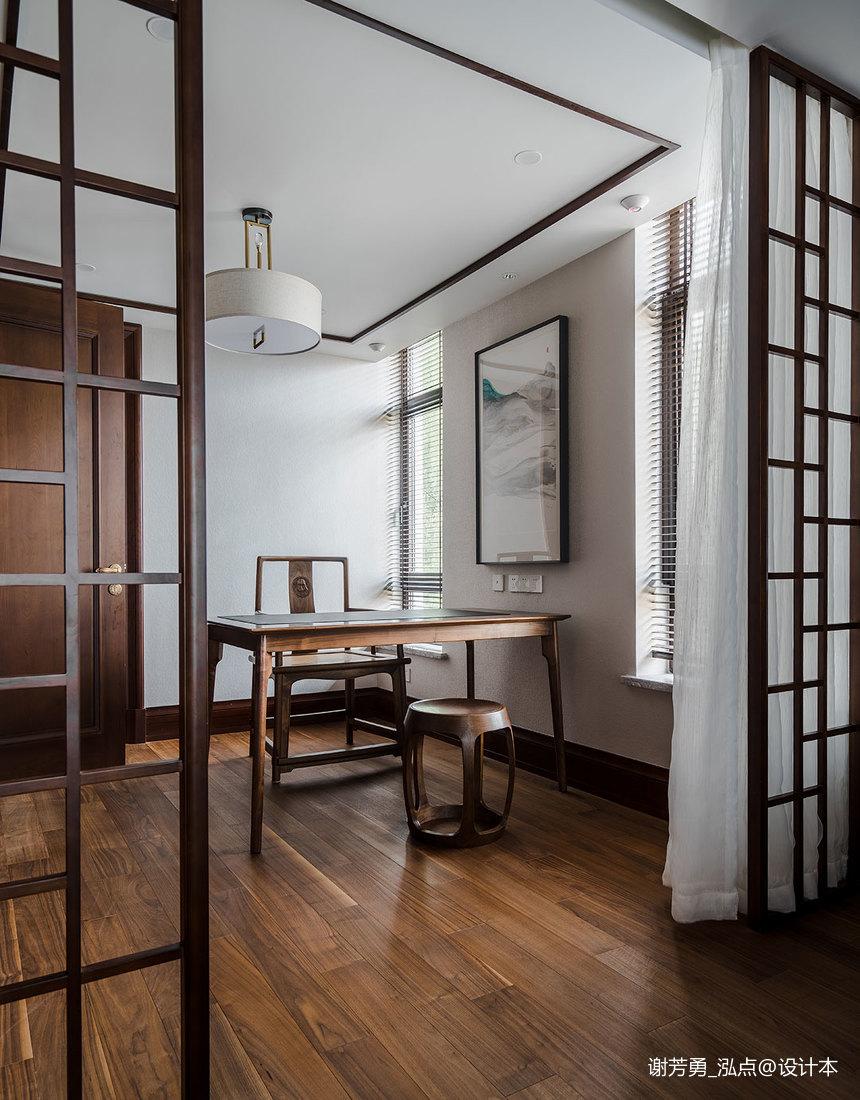 优雅750平中式别墅书房实拍图
