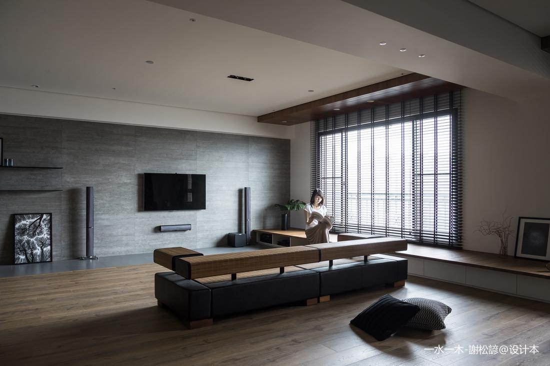 大气124平中式四居客厅装修图