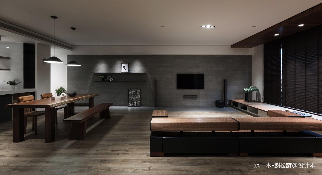 温馨116平中式四居客厅装修效果图