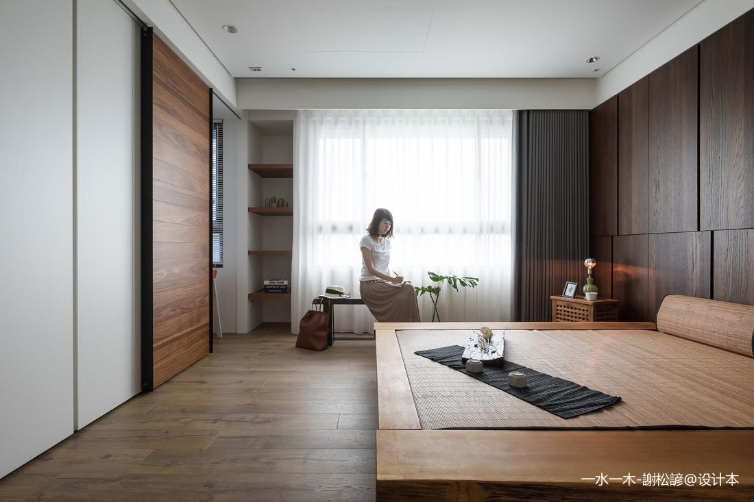 浪漫101平中式四居卧室装修案例
