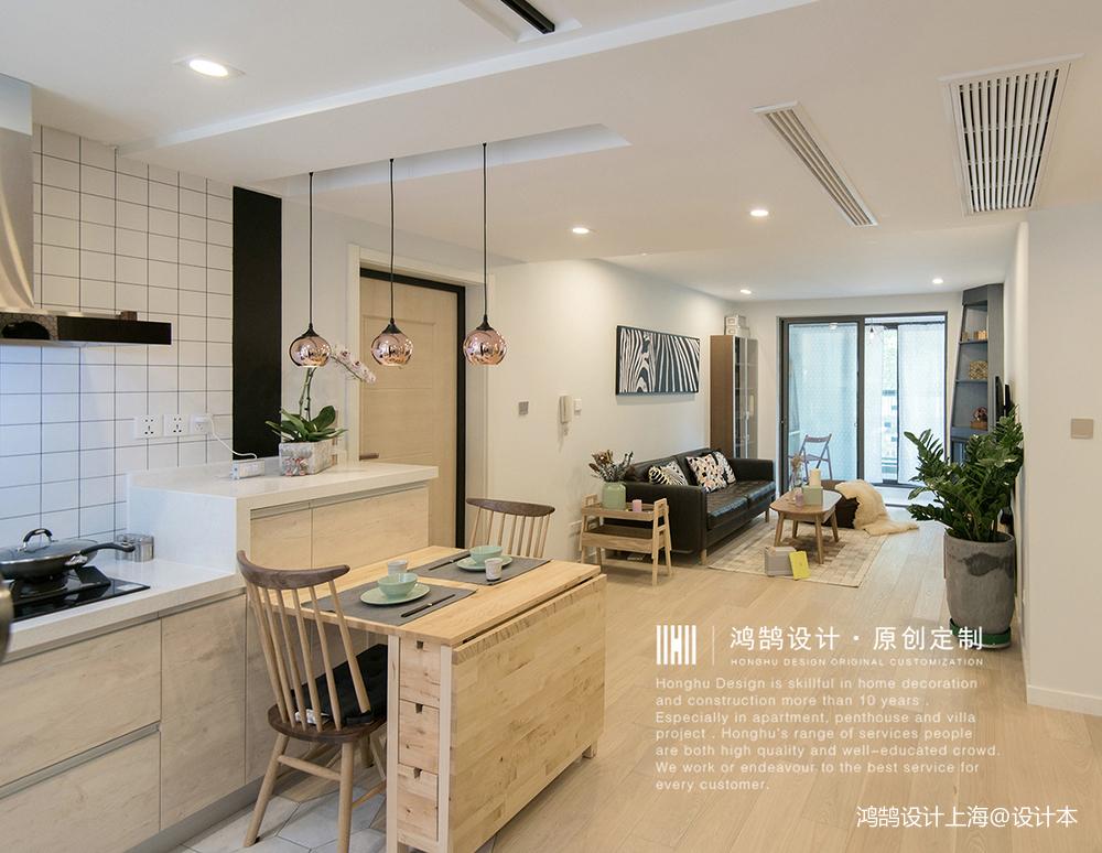 温馨55平北欧二居厨房设计美图