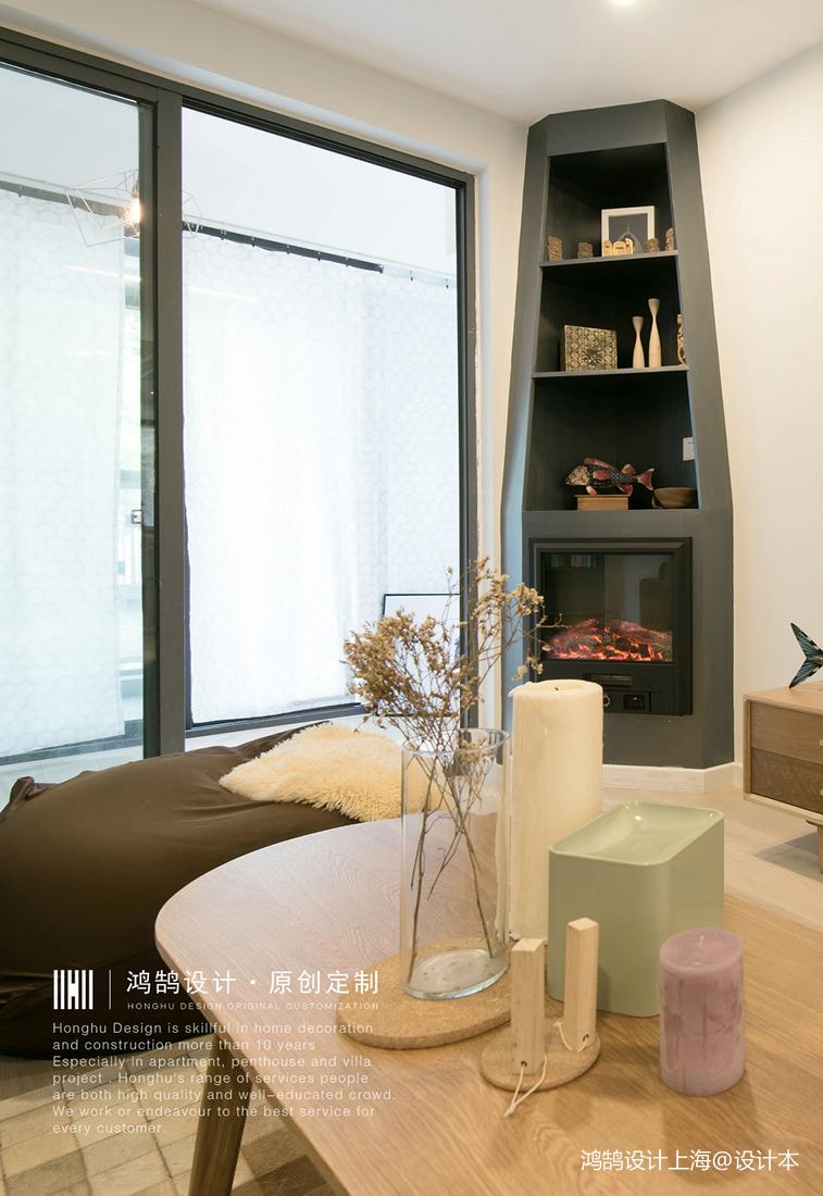 明亮59平北欧二居客厅设计效果图