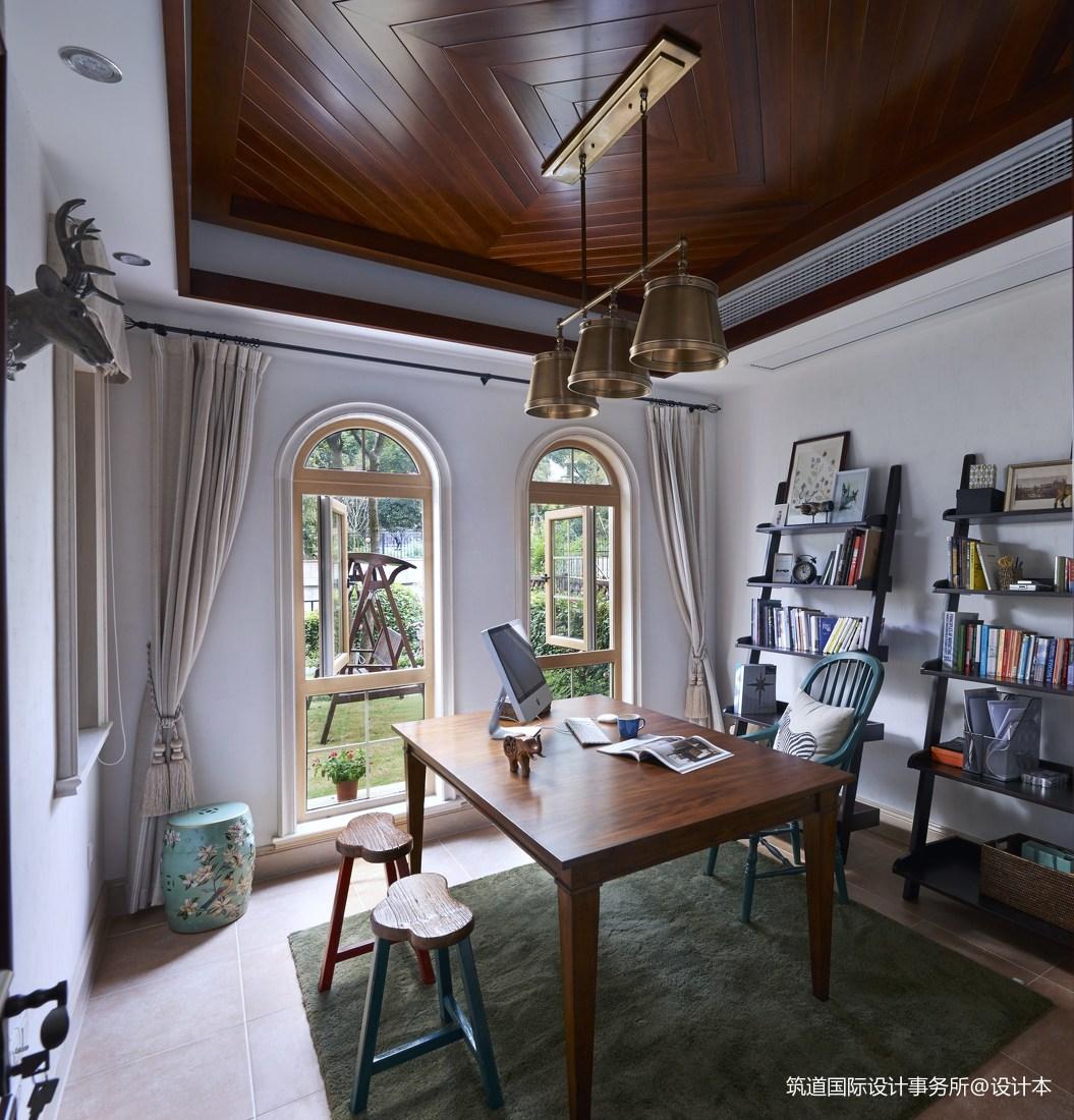 温馨316平新古典别墅书房设计案例