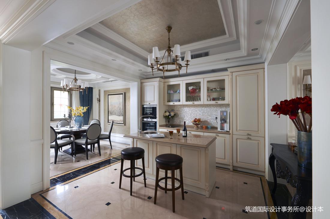 华丽467平新古典别墅厨房设计效果图