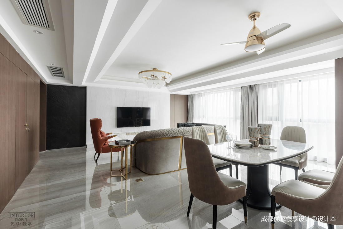 质朴83平现代复式客厅效果图