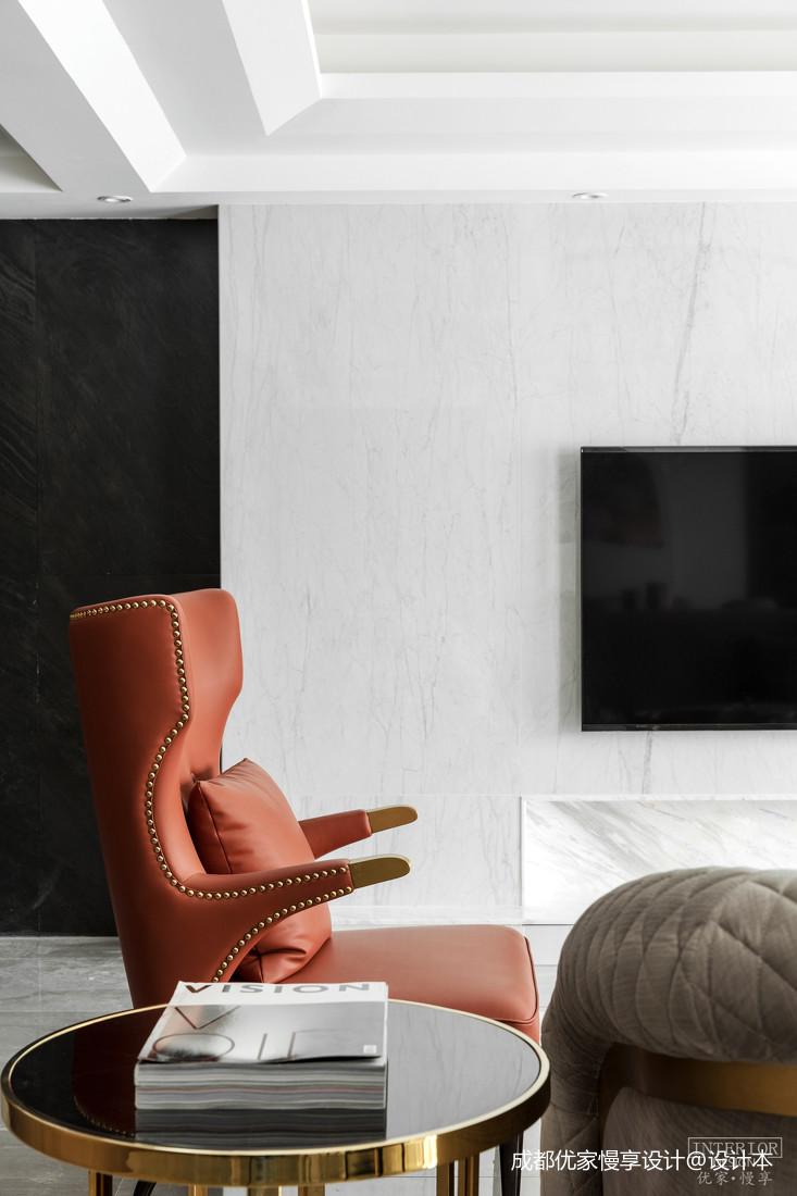 优雅42平现代复式客厅装修美图