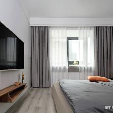 悠雅82平现代二居卧室装修设计图