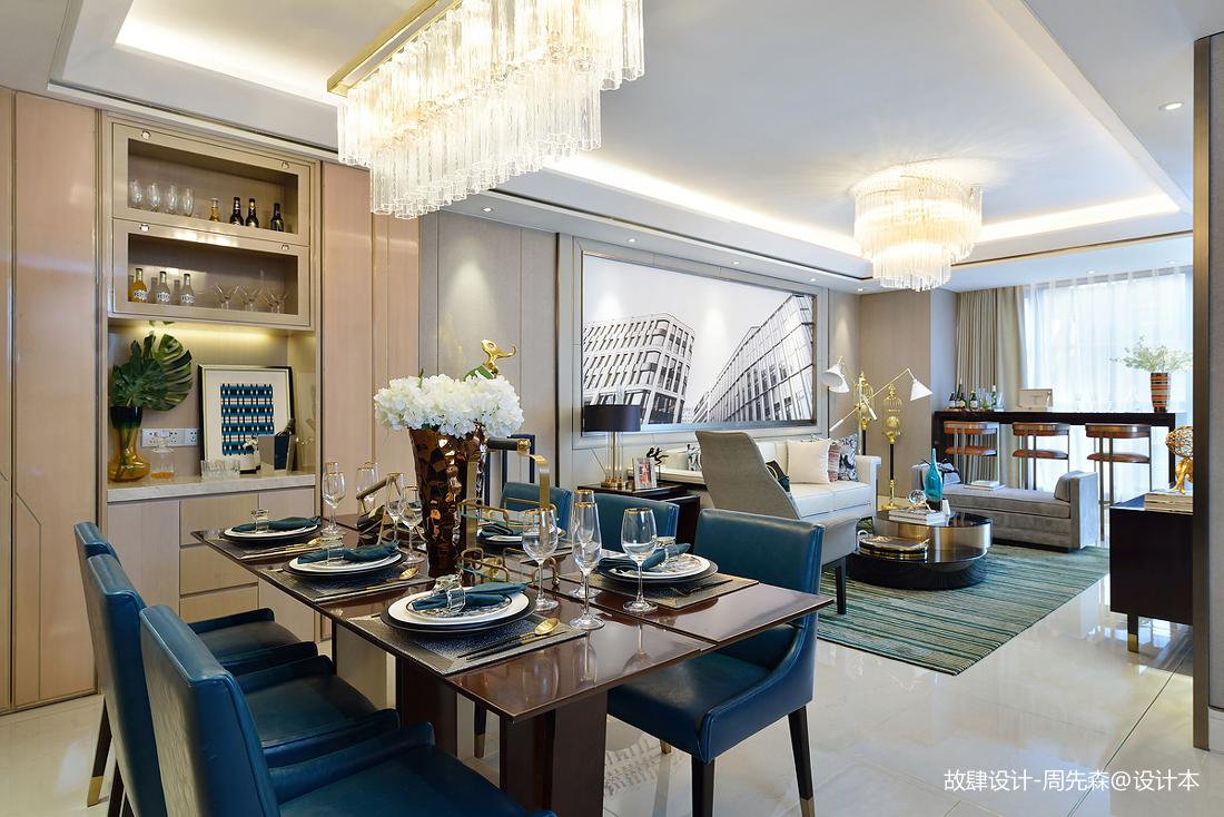 精致320平现代样板间餐厅设计案例