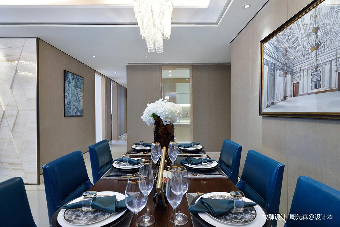 明亮261平现代样板间餐厅装修装饰图