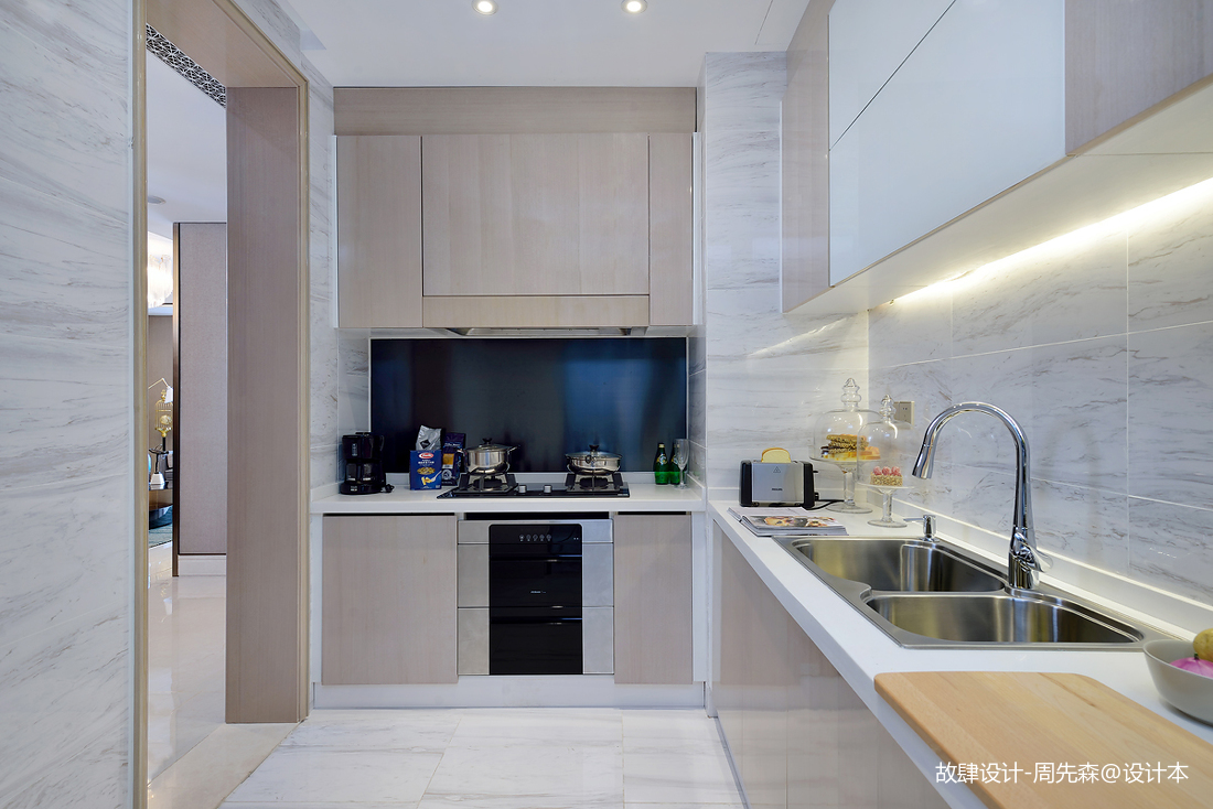 精美301平现代样板间厨房布置图