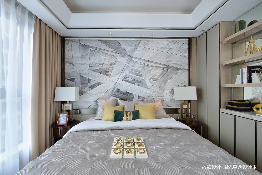 温馨292平现代样板间卧室实景图