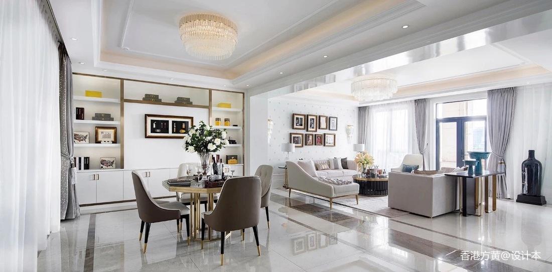 简洁319平法式别墅客厅装修设计图