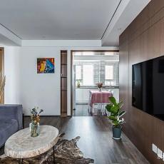 明亮83平现代二居客厅装潢图