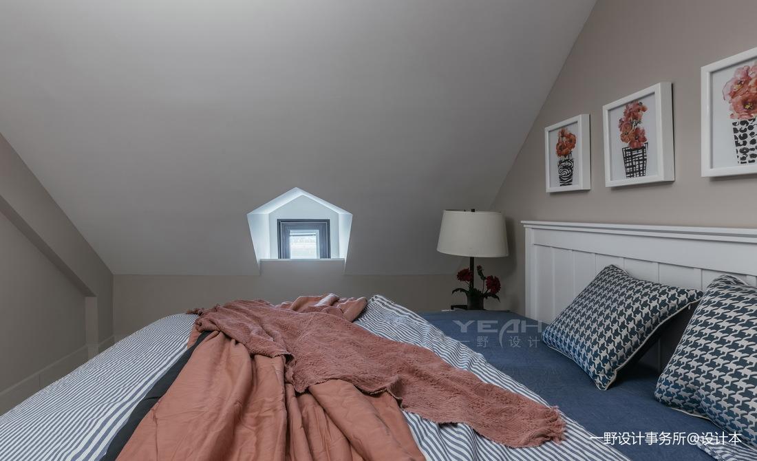 140m² 美式风阁楼卧室设计图