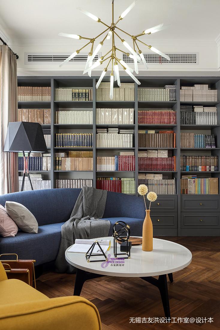 温馨43平美式复式客厅装饰美图