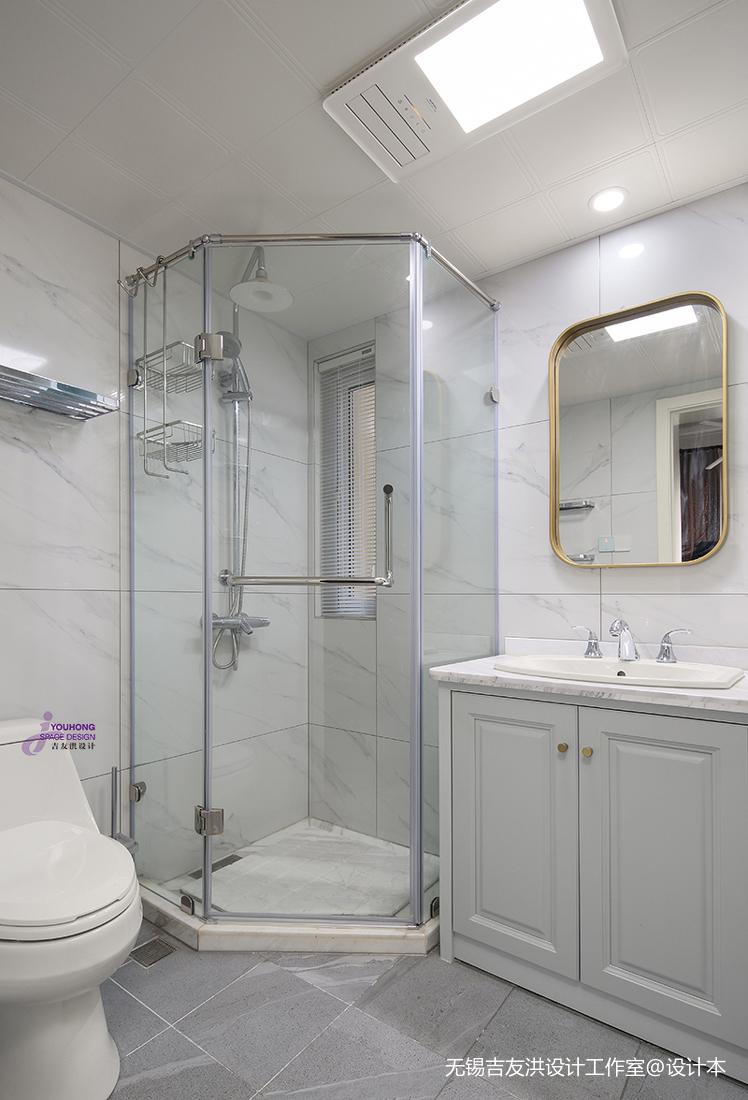 温馨73平美式复式卫生间设计美图