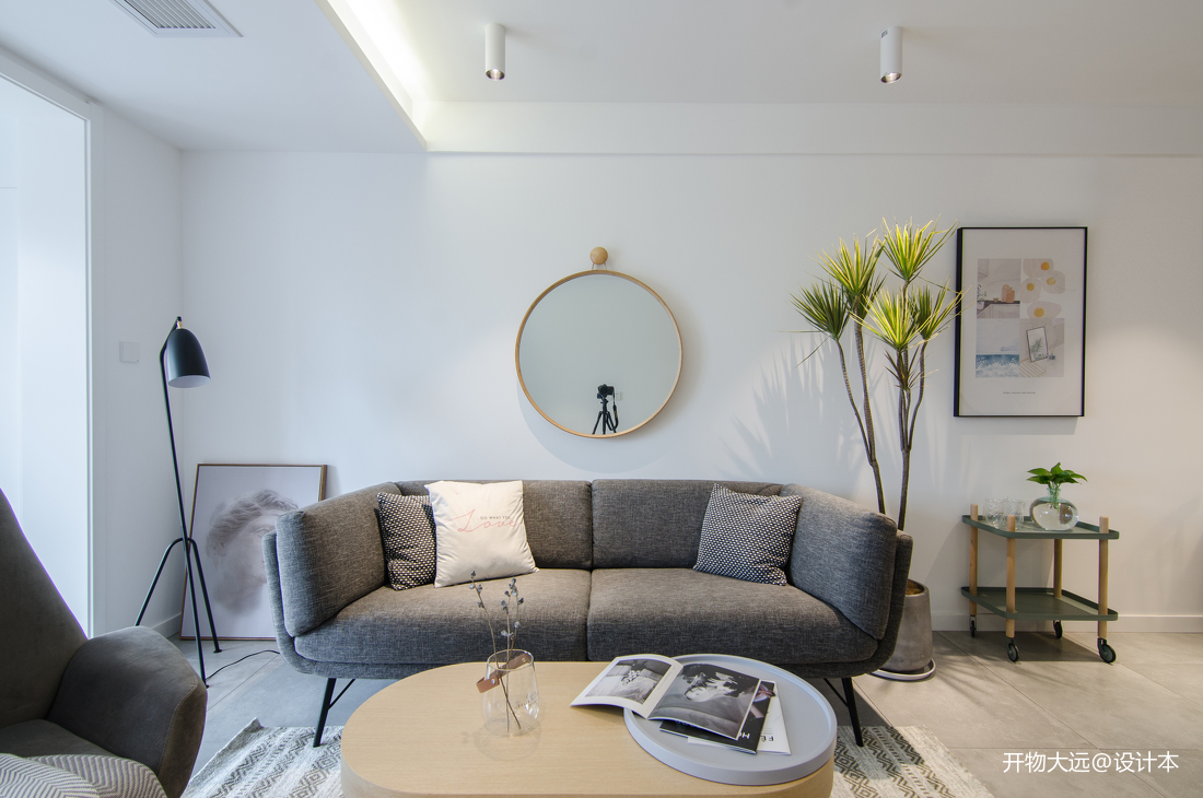 質樸20平現代小戶型客廳設計效果圖