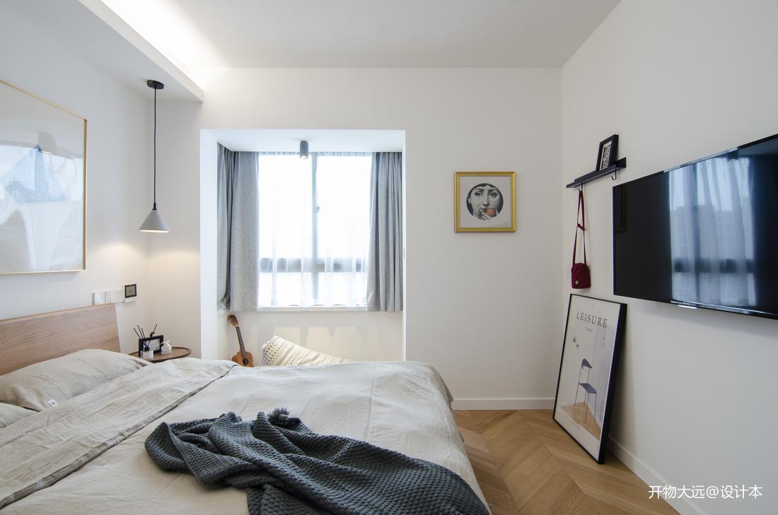 典雅35平现代小户型卧室装潢图