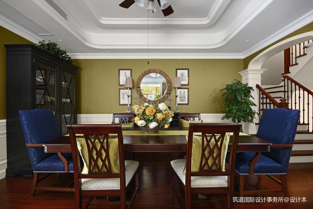 温馨862平美式别墅餐厅图片欣赏