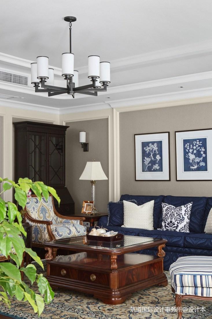 大气348平美式别墅客厅装饰图