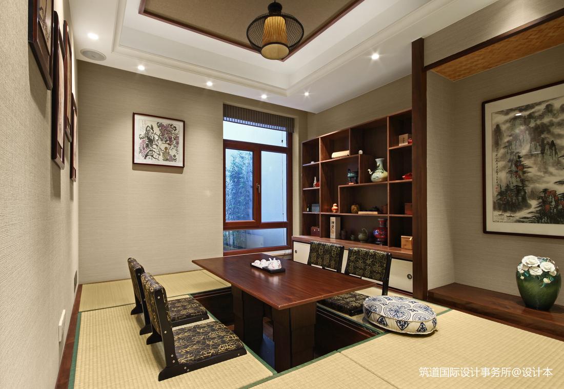 华丽616平美式别墅书房实景图
