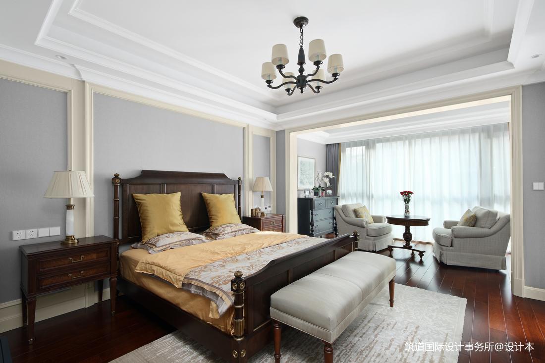 温馨908平美式别墅卧室装修图片