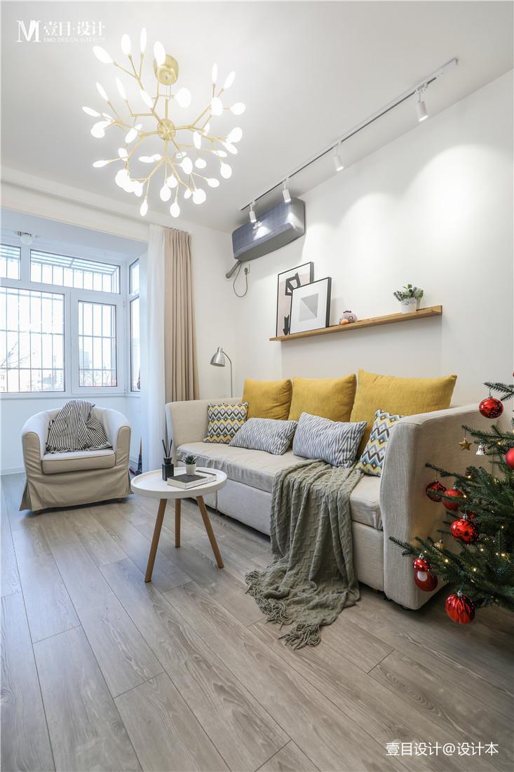优雅22平北欧小户型客厅实拍图