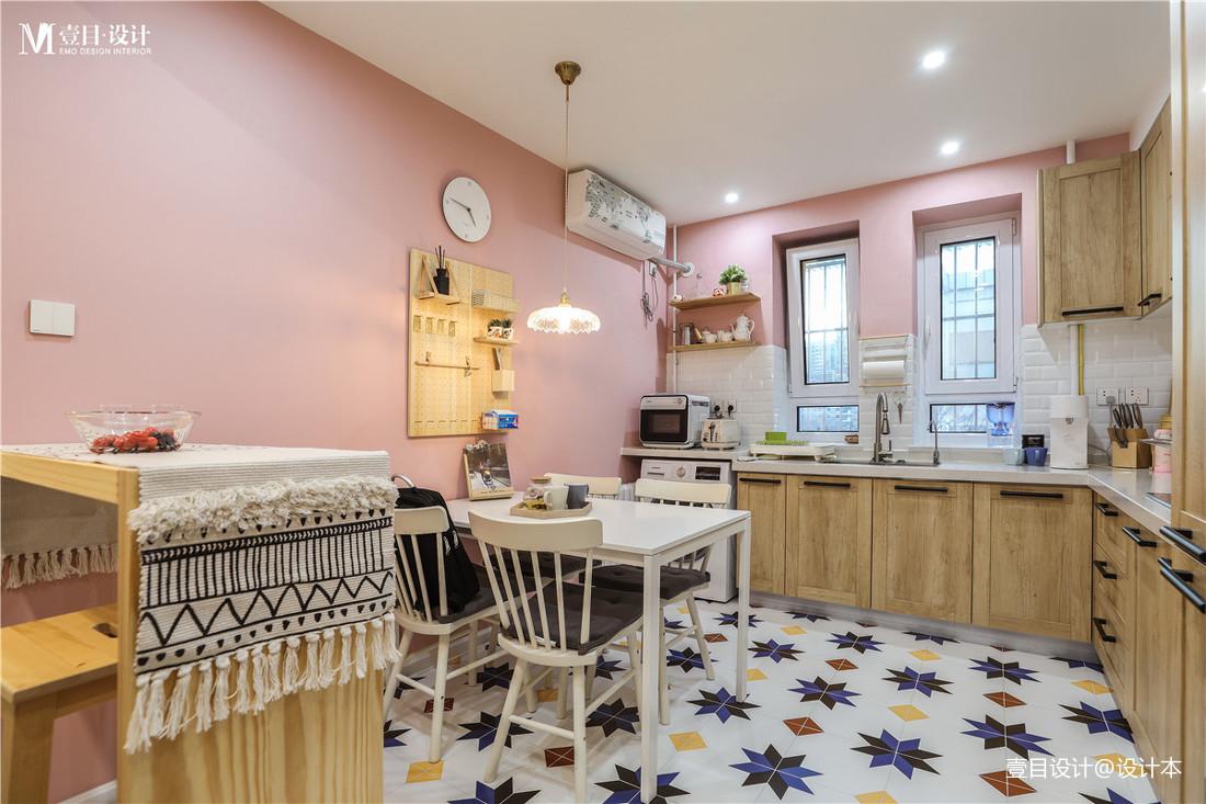 简洁60平北欧小户型厨房装修图片