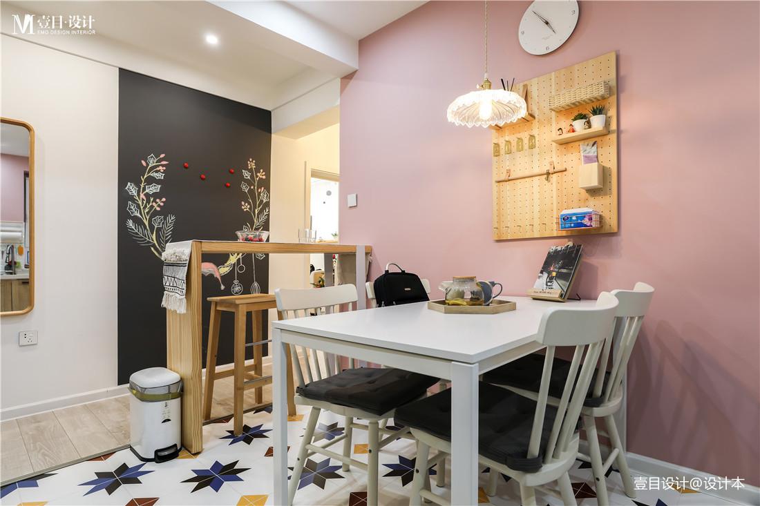 轻奢28平北欧小户型餐厅装修设计图