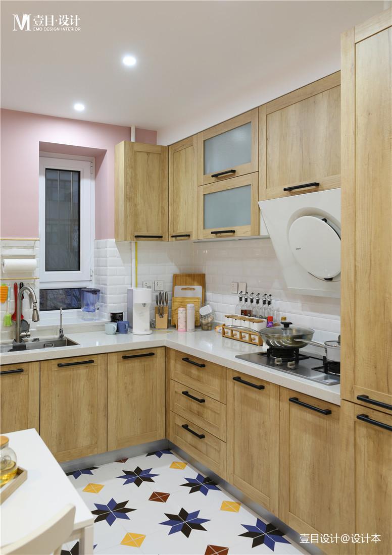 质朴33平北欧小户型厨房装潢图