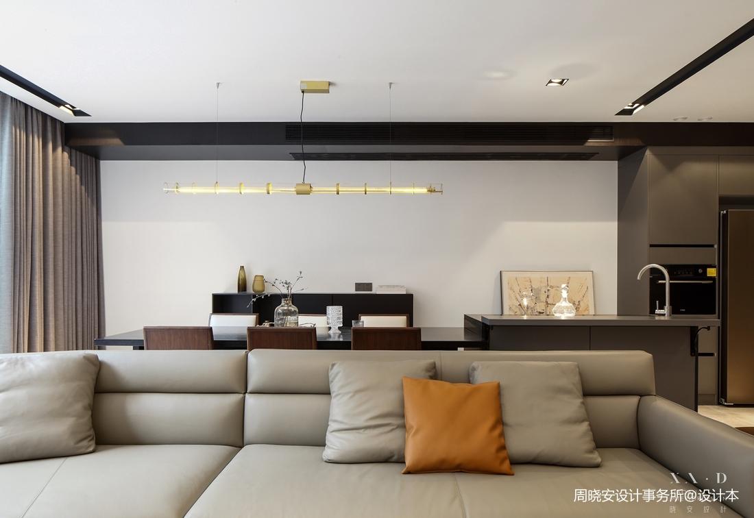 轻奢63平现代复式客厅设计图