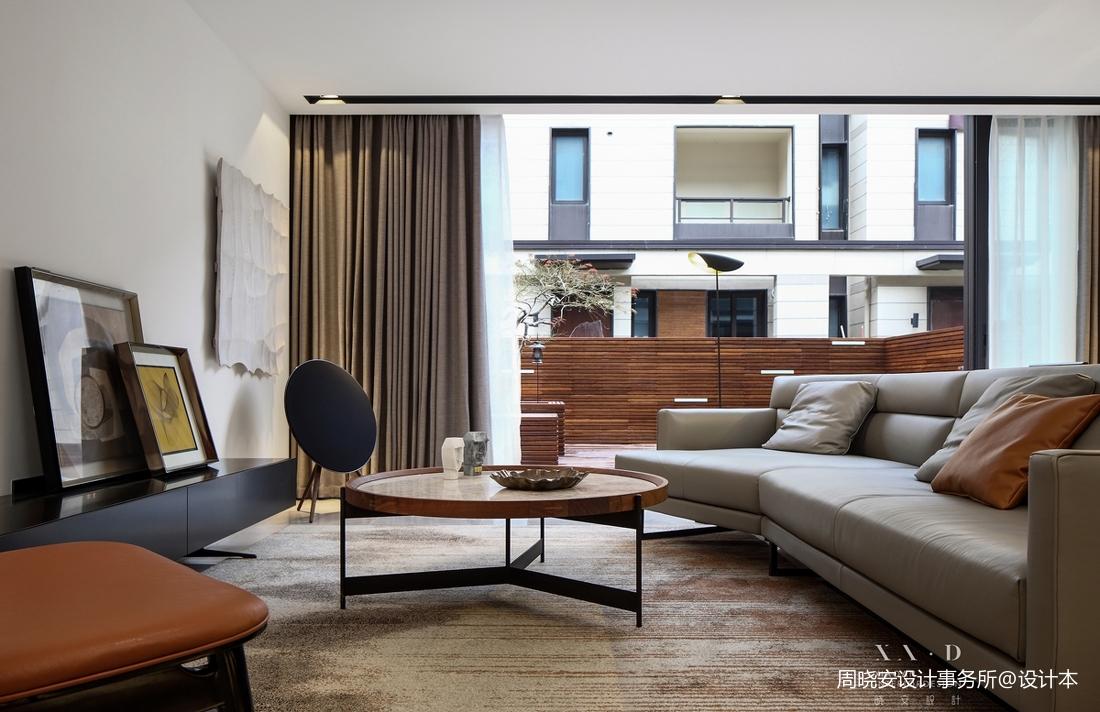 精致83平现代复式客厅设计图