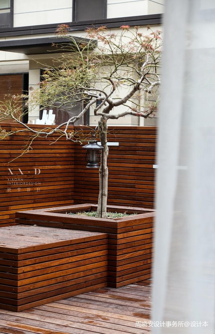 华丽83平现代复式花园实拍图