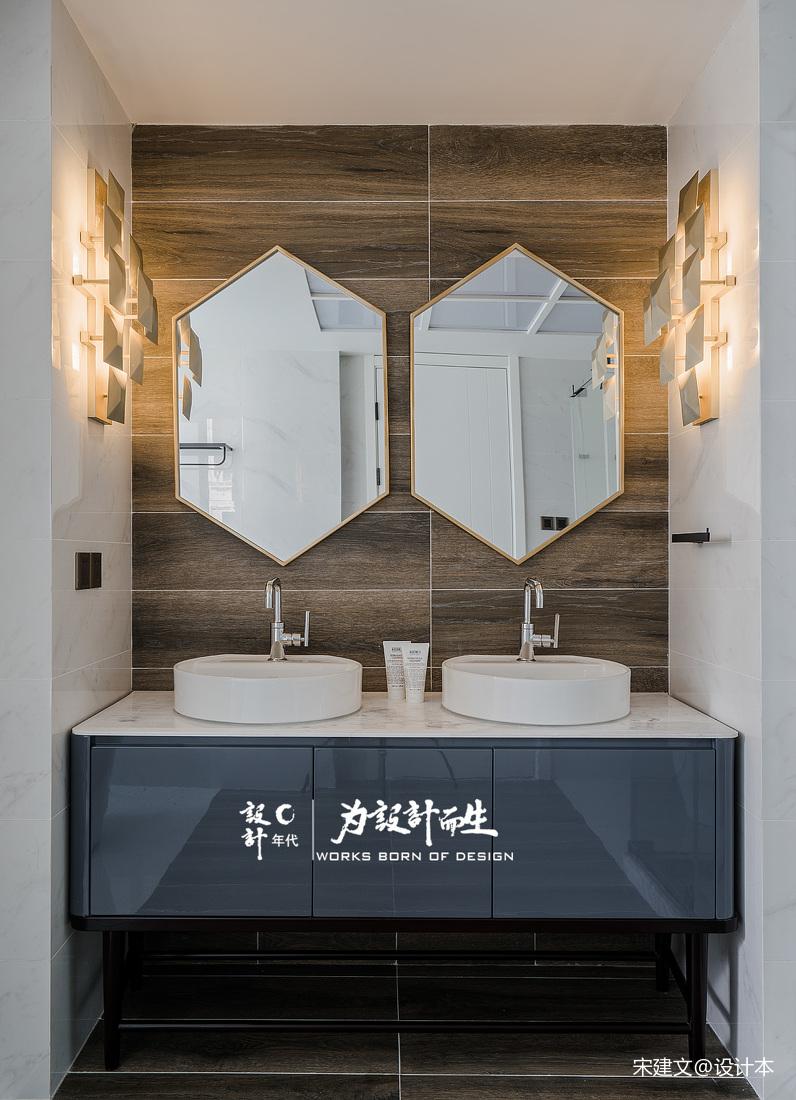 简洁556平现代别墅卫生间装饰美图