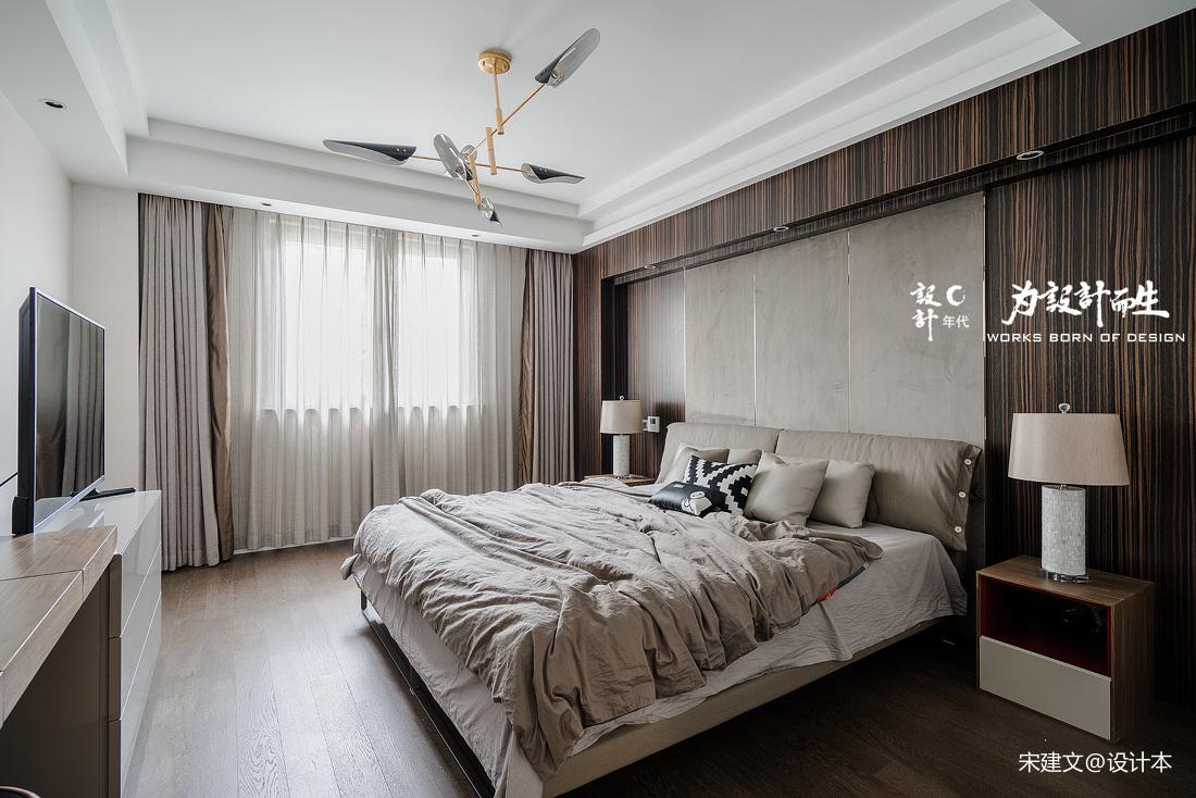 温馨876平现代别墅卧室布置图