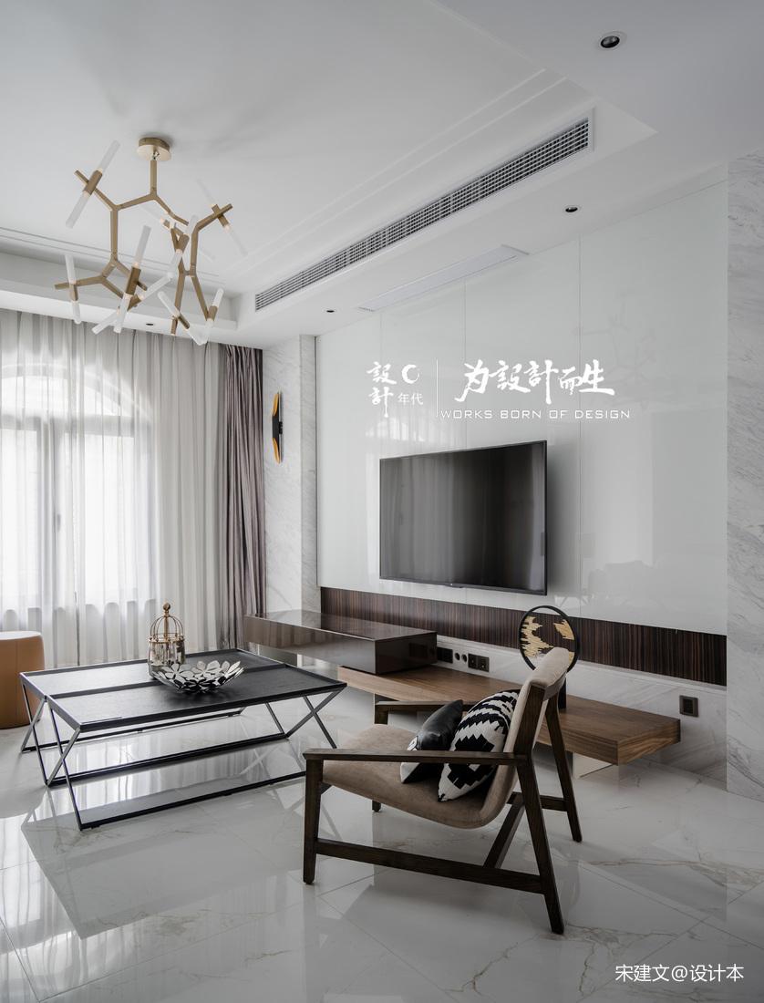 华丽244平现代别墅客厅案例图